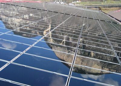 Impianto solare su tetto a Bolzano