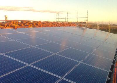 Impianto solare su tetto a Treviso